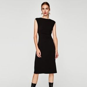 Classy Bnwt Zara Draped Shift Dress